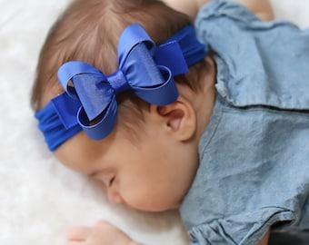 Royal Blue Big Bow Headband 11197acc4e5