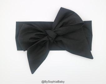 Baby Head Wrap, Baby Headwrap, Black Baby Headband, Baby Turban, Toddler HeadWrap, Girls Bow Headwrap Turban, Baby Bow Head wrap, 2244
