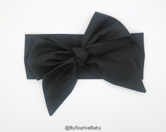 Baby Head Wrap Baby Headwrap Black Baby Headband Baby Etsy