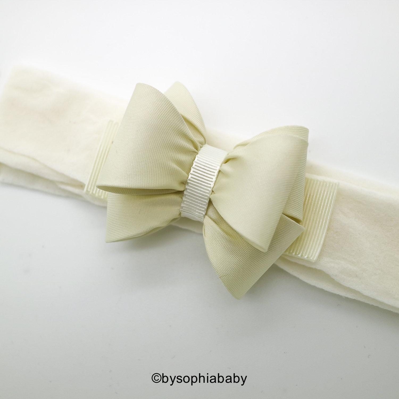 a31584ae699c Ivory Bow Headband Ivory Girls Headband Baby Ivory Bow