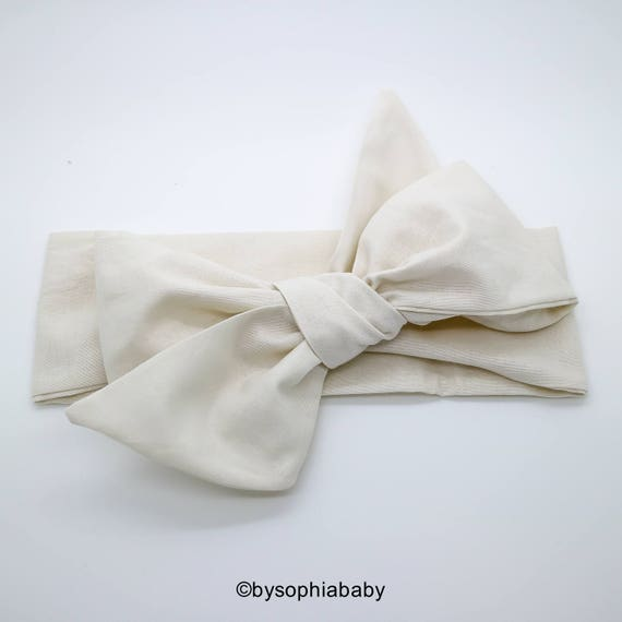 Ivory Baby Head Wrap Champagne Baby Headband Beige Baby Etsy