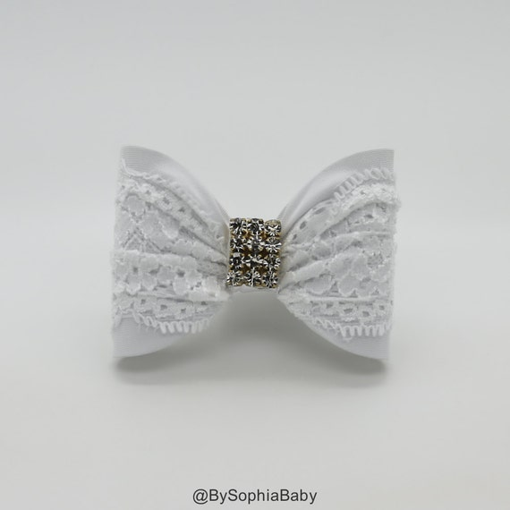 White Baby Bow Baby Hair Clip White Bow Hair Clip White  70872651e59