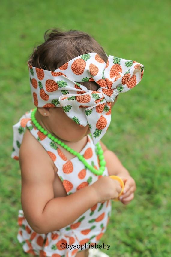 Pineapple baby headwrap