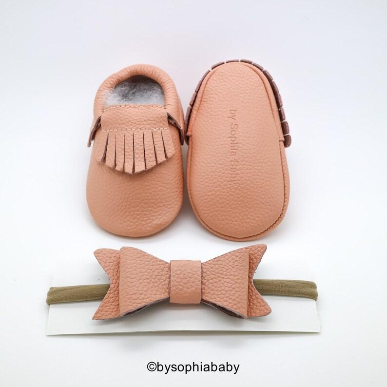 645f9b63e6049 Blush Pink Fringe Moccasins, Baby Pink Moccasins, Baby Leather Shoes,  Genuine Leather Moccs, Toddler Moccasins, Baby Moccs, Baby Shower Gift