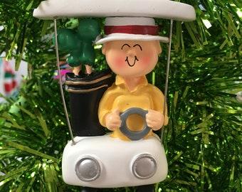 Golf Cart Christmas Decorations.Golf Cart Ornament Etsy