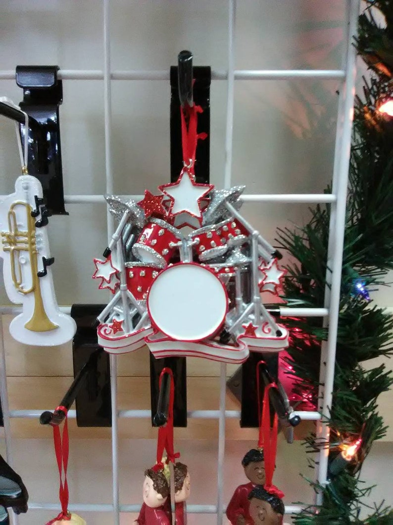 Christmas Drum Decor.Personalized Drum Set Christmas Ornament Wall Decor