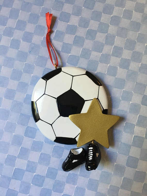 3da8248b711 Soccer Ball with Shoes and Star Personalized Soccer Ornament