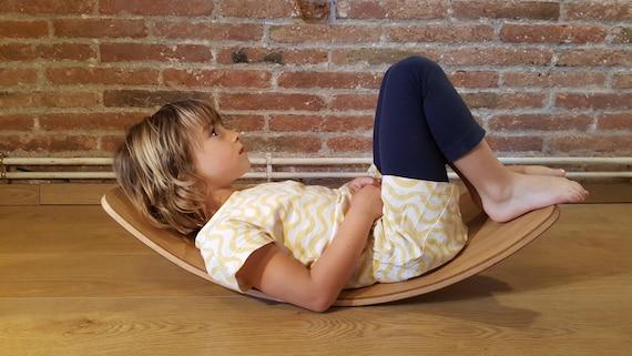 Montessori Board Cumpleaños Curva Regalo Waldorf Balance Juguete Pikler Equilibrio De Tabla Madera vNwOm80n