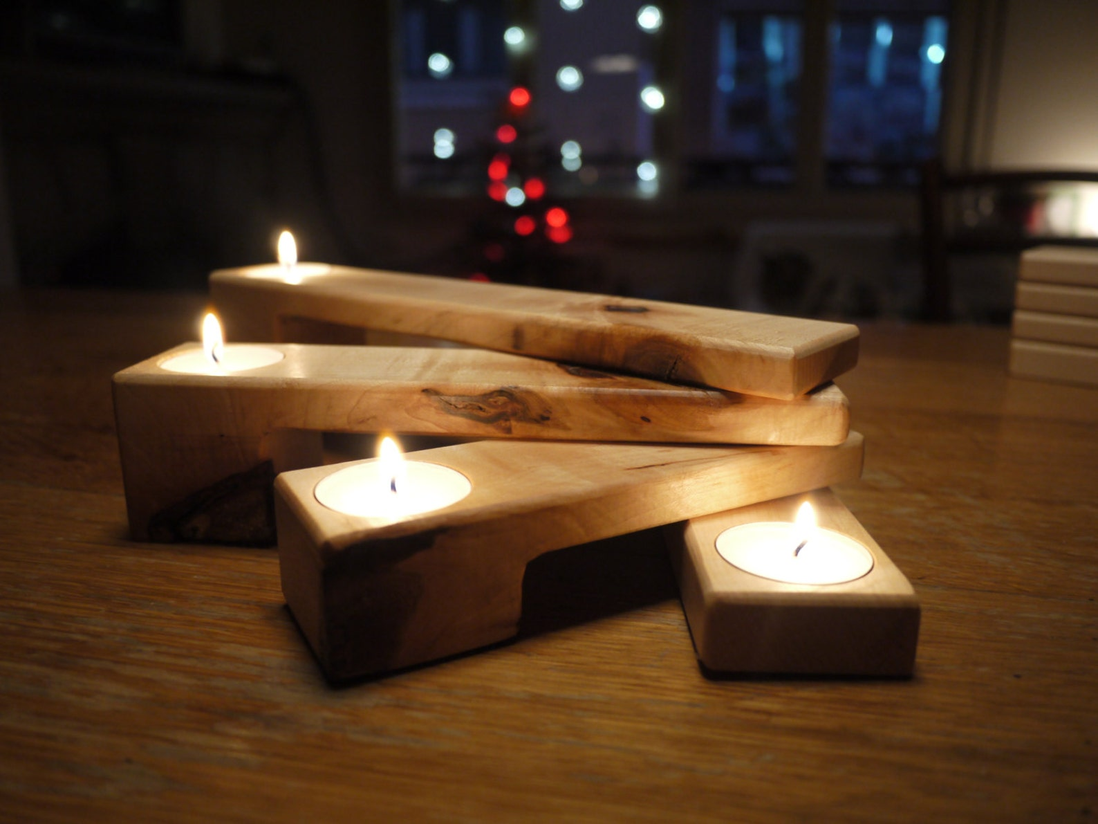 Advent Wreath Candle Holder / Wooden Candle Holder