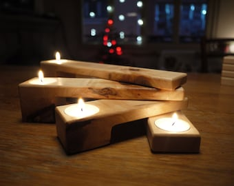 Gift For Her Candle Holder  Wooden Folding Candle Holder Wooden Candlesticks  Home Decor Scandinavian Design Wedding Centerpiece