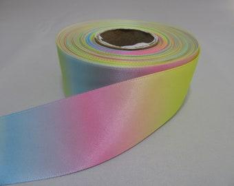 ** WHITE SATIN /& ORGANZA Ribbon 17mm Wide **