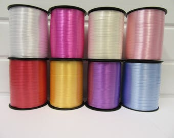 10mm Pastel Candy Stripe Ribbon Light Blue 5m Roll