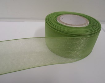 15mm Woven Edge Organza Ribbon 50 Yards 16 Colours