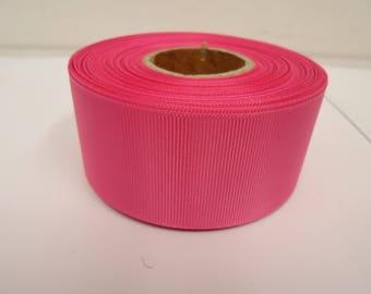 3mm 6mm 10mm 16mm 22mm 38mm 50mm BARBIE BRIGHT PINK Grosgrain Ribbon Ribbed