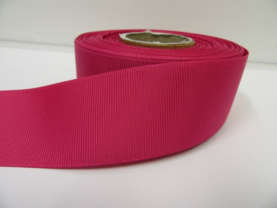 1 metre of 38mm wide RED Single Face Satin Ribbon cut to order up to 10M