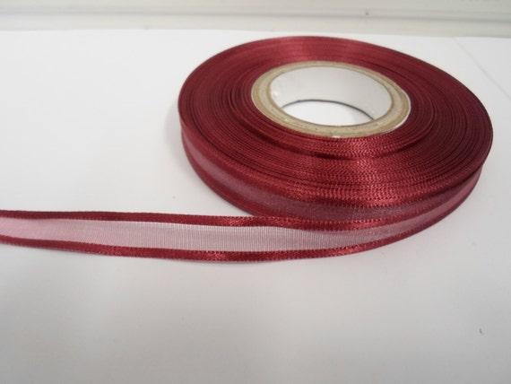 Completo 25 Yardas Rollo De Púrpura borde del satén cinta de Organza 10mm 15mm 25mm Y 38mm