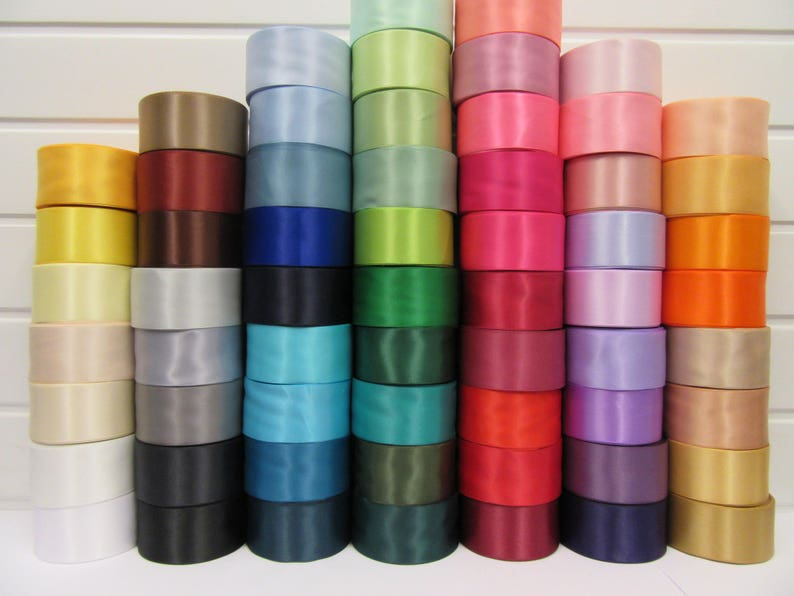 Double Sided Faced Satin Ribbon 9,25,38mm x 2,10 Meters