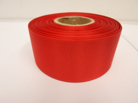 3mm 6mm 10mm 16mm 22mm 38mm 50mm POPPY BRIGHT RED Grosgrain Ribbon Ribbed Double