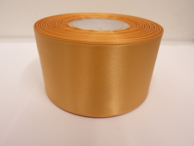 8M of 7mm Wide Double Sided Gold Satin Ribbon Crafts//Christmas