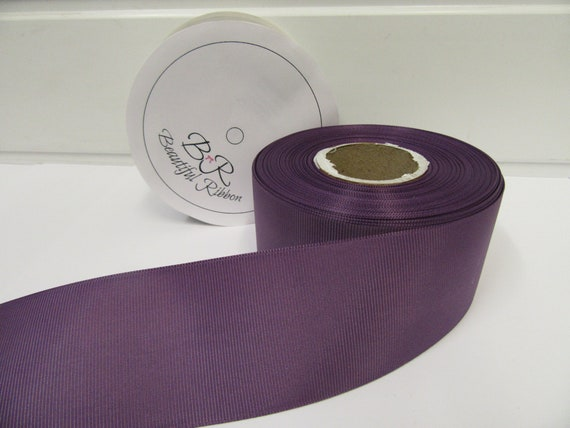 Purple double faced satin ribbon 3mm 10mm 16mm 25mm 38mm 50mm width
