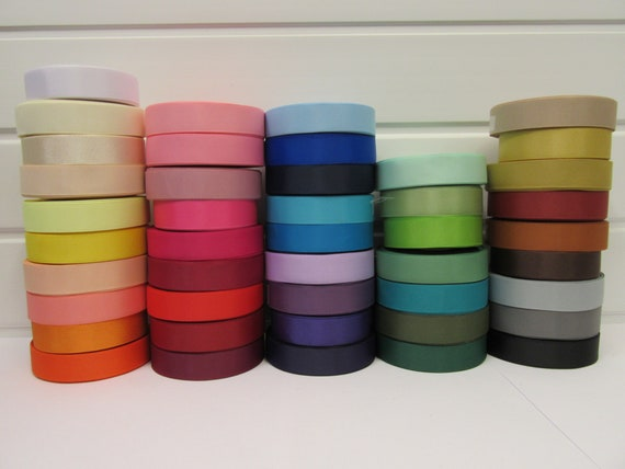 6mm 1 x 23 Metres Rolls Double Sided Satin Ribbon 10mm UK SELLER