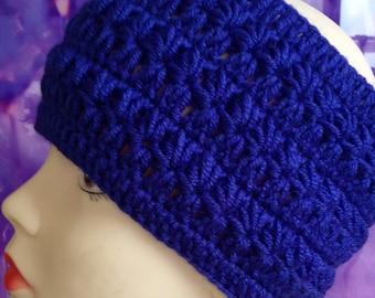 Blue crochet headband/ Chunky crochet headband/ Crochet Ear Warmer/ Winter Headband/ Womens Headband/ Chunky Ear Warmer/ Knit Blue Headband