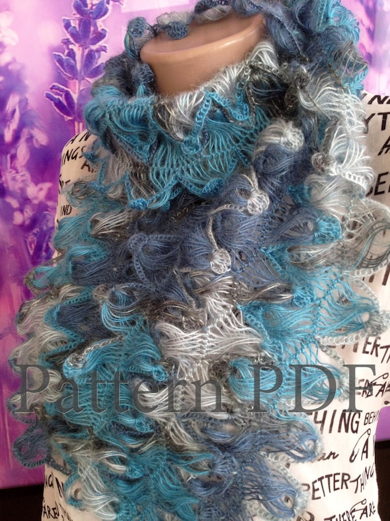 Pattern Hairpin Lace Loom Scarf Crochet Pattern Hairpin Lace