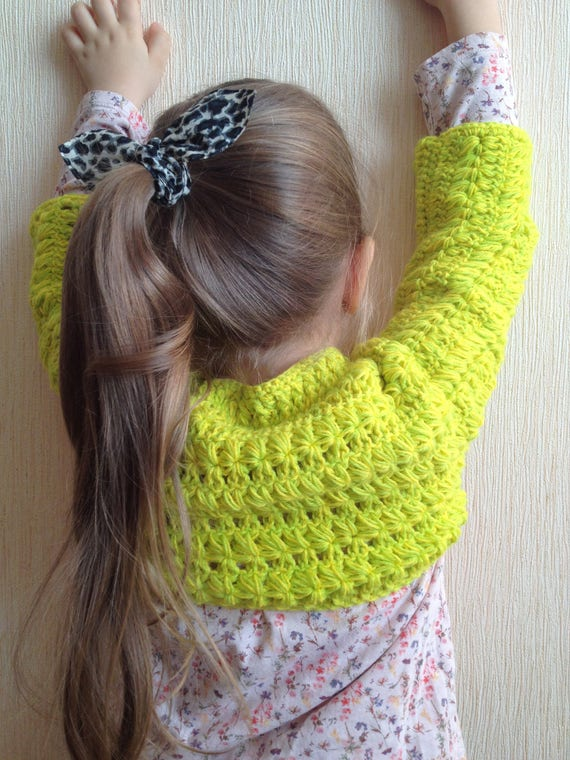 Grün Gelb Häkeln Kleinkind Baby Bolero Häkeln Achselzucken Etsy