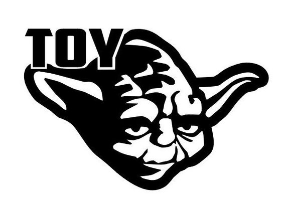 Funny Toyoda Star Wars Yoda Decal Sticker Toyota Vinyl Window Bumper