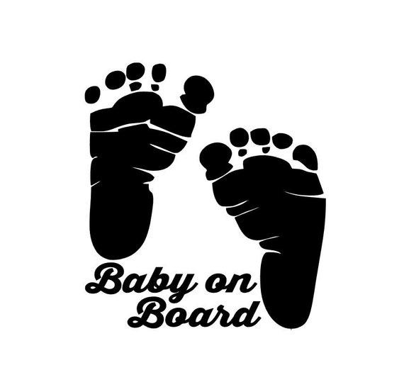 Baby on Board Winnie De Pooh Baby Decal Sticker Vinyl for Car Windows 5.5 inches Black