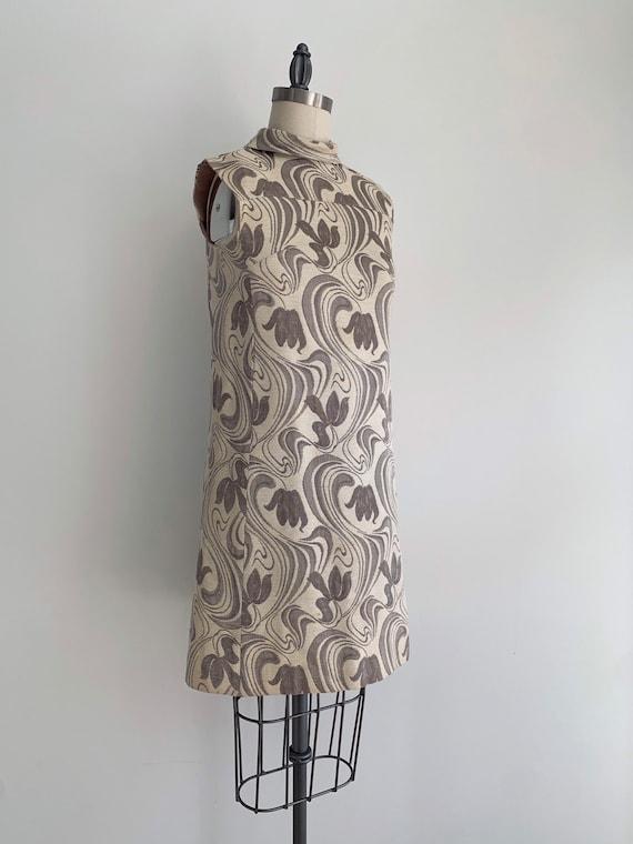 Vintage 1960's Mod Mini Shift Dress - image 3