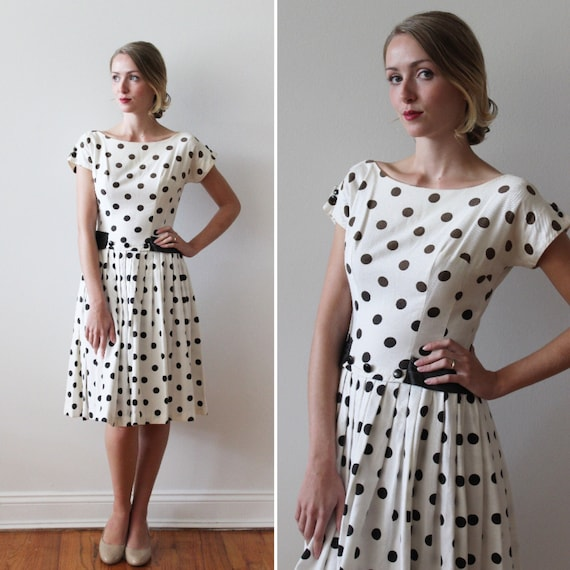 Vintage 1960/'s 50/'s Woman/'s Pink Pleated Polka Dot Maternity Blouse