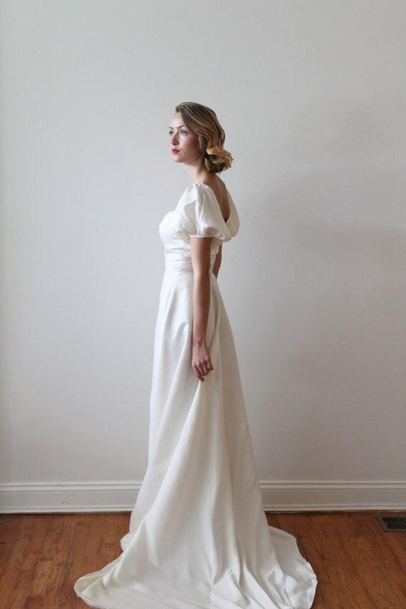 Klassiker der 1980er Jahre klassische Seide Brautkleid mit