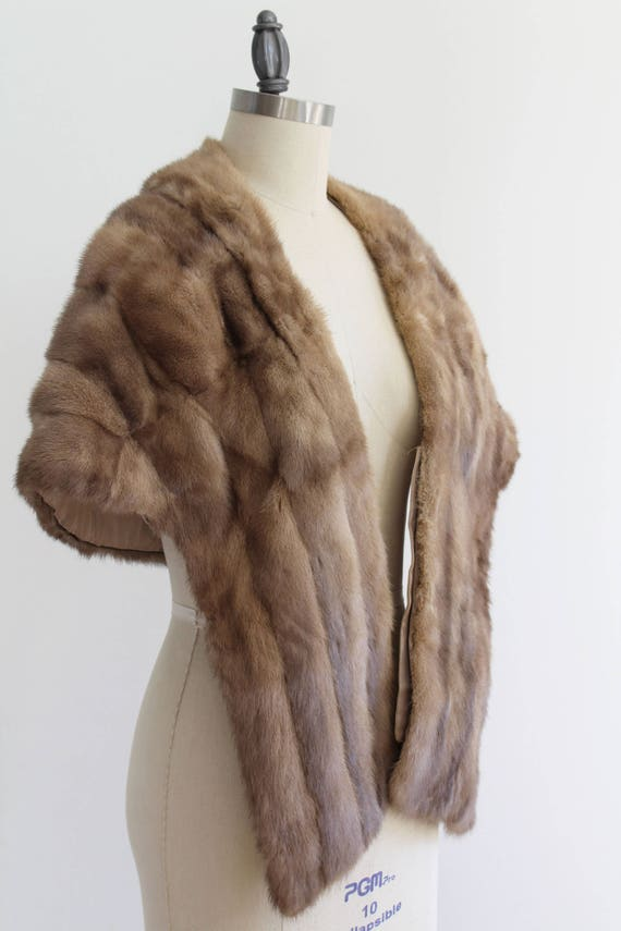 Vintage 1930s - 40s Light Brown Mink Stole