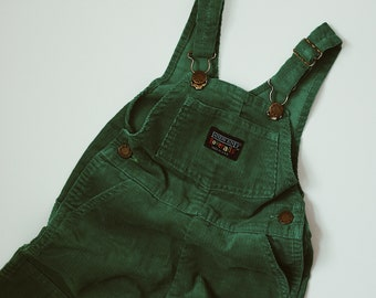 403bf15b Vintage Lands End Green Cord Overalls Size 2T