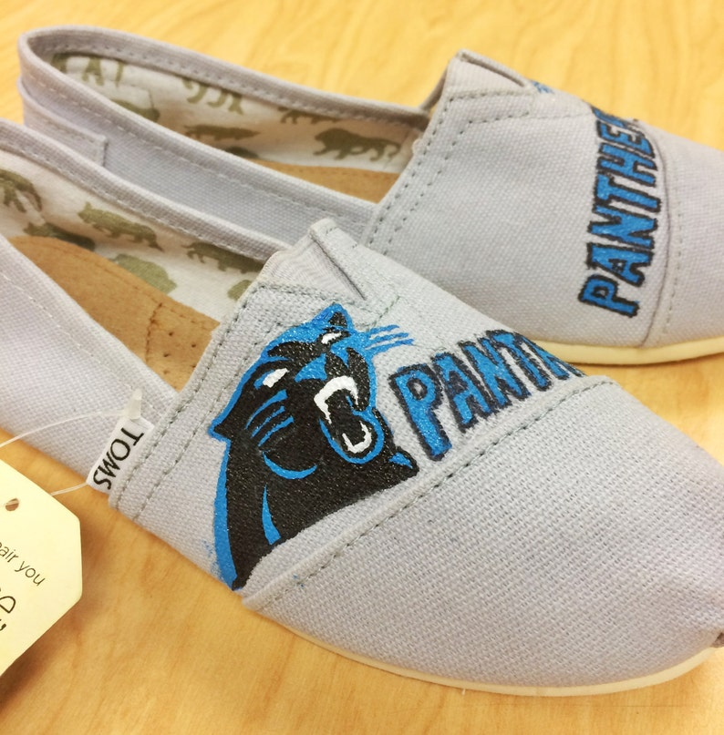 Carolina Panthers Custom Handpainted Gray Tom/'s