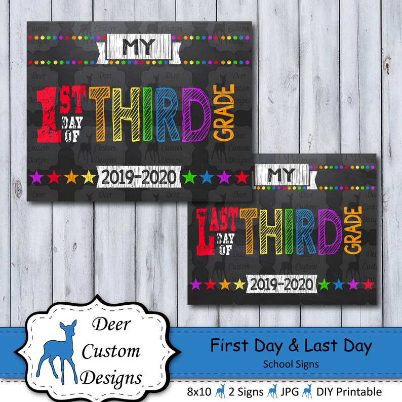 First Day of School Sign  Printable First Day  School Sign  image 0