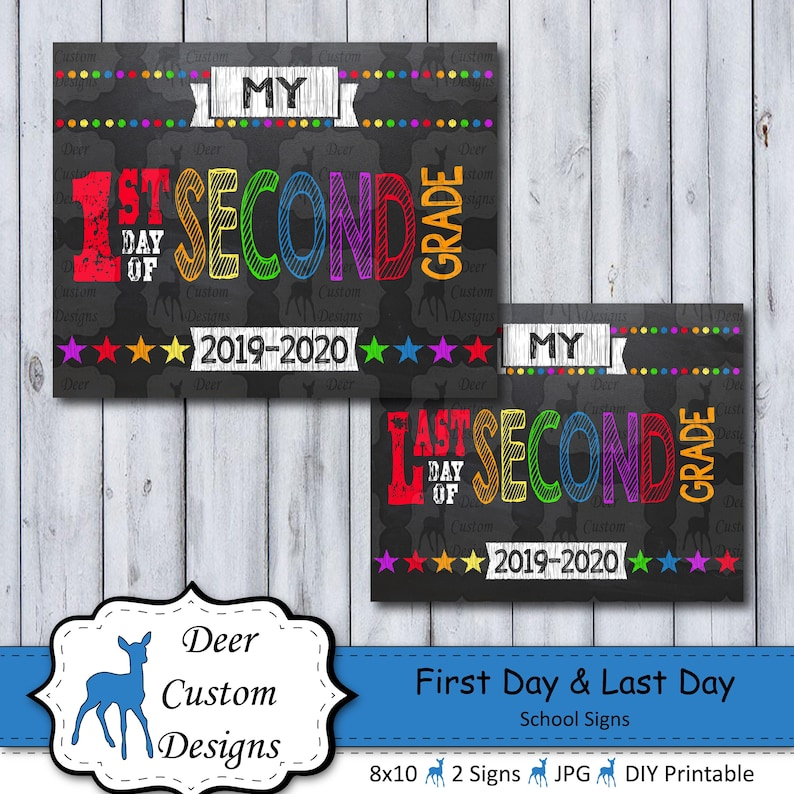 First Day School Sign  Printable First Day  School Sign  image 0