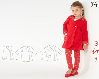 "Girls dress pattern, baby summer dress, toddler tunic dress, tunic wrap dress, clothing, patterns, sewing pattern ""Lena"" from Pattern4kids"