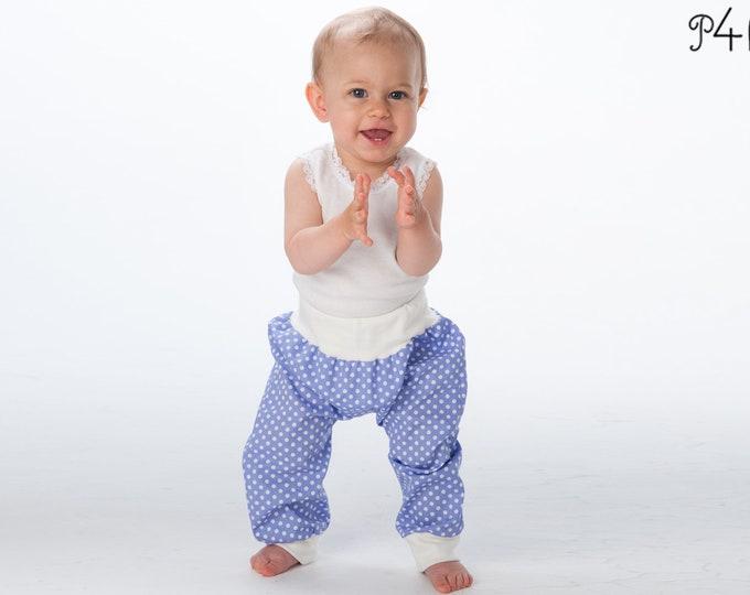 "Baby-pants pattern, toddler sweatpants, kids baggy pants trousers, bloomers, shorts, boy + girl, easy paper pattern ""Brek"" from Pattern4kids"