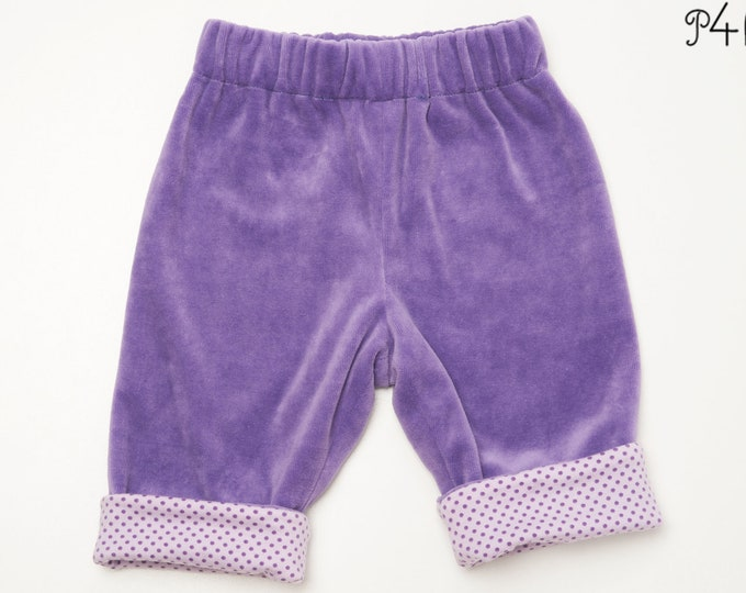 Baby pants pattern for boy + girl, lined yoga pants with elastic and hemline, easy, FIORETTO by Patternforkids