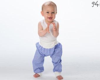 "baby bloomers pattern, babypants, sweatpants, pants for boy + girl, trousers, longies, infant, ebook sewing pattern ""Brek"" from Pattern4kids"