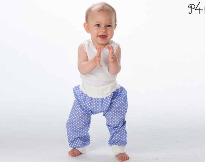 "baby bloomers pattern, babypants, sweatpants, pants for boy + girl, trousers, longies, infant, ebook sewing pattern ""Brek"" from Pattern4kids"