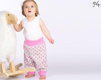 "Baby pants pattern, trousers, kids, children, easy, leggings, baggy pants, longies, boys, girls, Ebook PDF pattern ""Aria"" from Pattern4kids"
