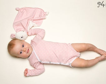 Sewing pattern Baby wrap body  long or short sleeve. Body + Romper for Preemie to 2Y easy paper pattern for beginner CIELO by Patternforkids