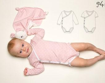 Baby Romper pdf Pattern, Jon Jon Pattern, bodysuit onesie for girls + boys easy to put on, winding toddler body CIELO from Patternforkids