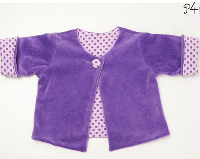 "baby wrap jacket pattern, baby-jacket, lined, children, kids, girl, boy, unisex, instructions, sewing pattern ""Filippa"" from Pattern4kids"
