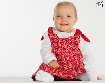 """Baby pinafore dress sewing pattern, girls dress, tunic dress, baby summer dress, girls dress, newborn, Ebook PDF """"Lipsia"""" from Pattern4kids"""