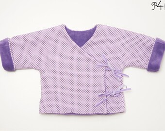 Baby jacket pattern pdf, toddler cardigan wrap jacket, lined and reversible for girls and boys with cuffs FIORINO from Patternforkids