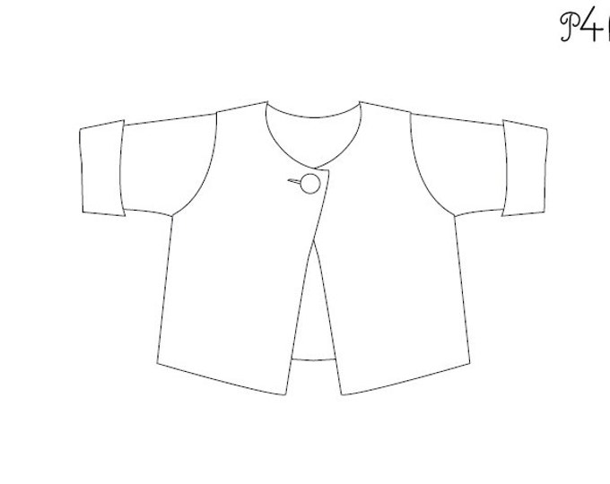 easy lined baby wrap jacket sewing pattern for girls and boys, with cuffs, warm for winter,  FILIPPA from Patternforkids